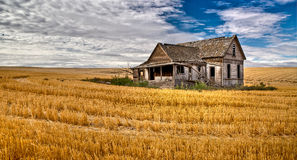 Old House. An old house falling down out in the heat of a long Eastern Oregon summer Stock Photo
