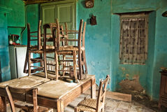 Old house. Kitchen in an abandoned house Royalty Free Stock Images