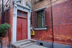 Old house. Shanghai old house's door looks very old Royalty Free Stock Photos
