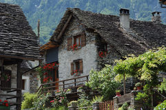 Old house. In Versazca valley Stock Photos