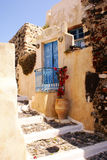 Old house. And jug on Santorini island, Greece royalty free stock photos