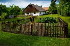 Old house. A old popular architecture in the Czech republic Royalty Free Stock Images