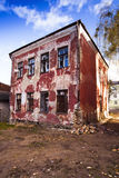 Old house. The old house collapsing from time. Grodno, Belarus Stock Images