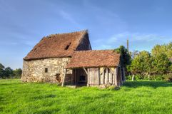 Old house. Normandy traditional old house landscape Stock Images