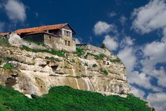 Old house. Town-fortres Chufut-Kale in Crimea, Ukraine Stock Photo