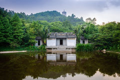 Old house. The lake there is a Chinese architectural style of the old house Royalty Free Stock Images