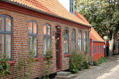 Old house. Old european brickhouse stock image