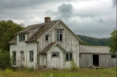 Old House. An old historic house and barn. Taken in Norway Royalty Free Stock Photos