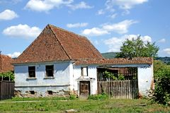 Old house. Old, traditional transylvanian house_rural environment Royalty Free Stock Image