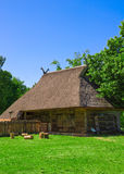 Old House. Old Lithuanian house. Museum on the Curonian Spit stock image