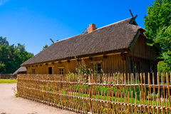 Old House. Old Lithuanian house. Museum on the Curonian Spit. Lithuania stock photos
