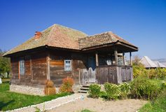 Old house. An old house made of wood from Romania Stock Photography