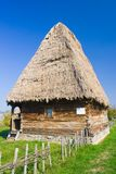 Old house. An old hous with roof of thatch Royalty Free Stock Image