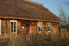 Old house. Wooden old house with fence Stock Photo