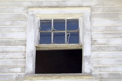 This old House. Old window of a historical building - in need of much restoration royalty free stock images