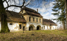 Old house. Big old abandoned house in transylvania royalty free stock photography