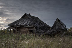 Old house in abandoned village Stock Images