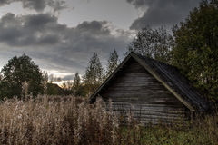 Old house in abandoned village Royalty Free Stock Image