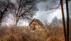 Old house. Abandoned house where they once lived farmers Royalty Free Stock Photography