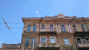 Old house. Against the blue sky Royalty Free Stock Images