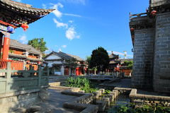 Old house in ancient city of Dali . City gate tower in Dali ancient city ,Dali Old City located in Yunnan Province china.The picture is the south gate of Dali Royalty Free Stock Photos