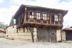 Old house - an architectural monument in Koprivshtitsa, Bulgaria Royalty Free Stock Photos