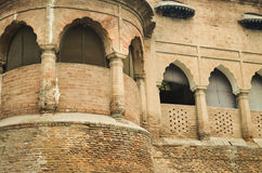 Architecture history old building fort balcony. Architecture design history old fort photography Stock Images