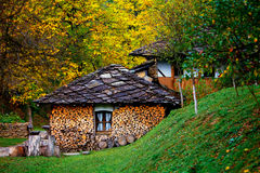 Old house in autumn forest Royalty Free Stock Photography