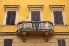 Old house balcony in Rome. Italy Stock Image