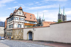Old house in Bamberg Bavaria Royalty Free Stock Photo