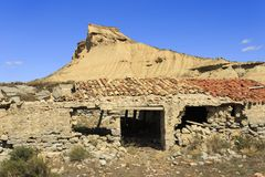 Old house in Bardenas Reales desert in Spain. Europe Stock Photos