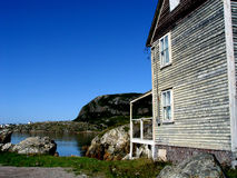 Old House By the Bay. In Salvage Newfoundland Stock Photography