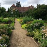 Old house in the Berlin Botanical Garden stock photography