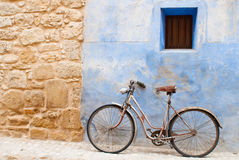 Old house and bicycle Royalty Free Stock Images