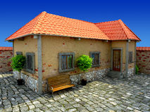 Old house in blue sky Royalty Free Stock Images