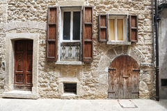Old house of Borgo Maggiore Royalty Free Stock Photo
