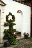 Old british house brick wall style scene. Royalty Free Stock Image