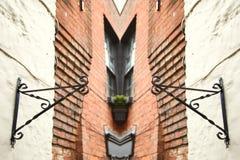 Old british house brick wall style scene. Royalty Free Stock Photo