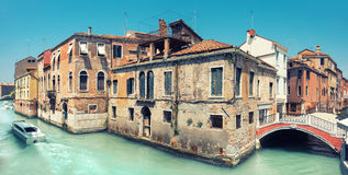 Old house and a bridge in central Venice in Italy Royalty Free Stock Images