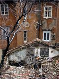 Old House And Broken Roof in Rijeka,Croatia Stock Photos