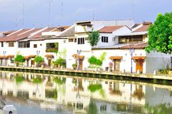Old house and building at Melaka River City Stock Photos