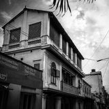 The Old House. This old building in a pocket road in Triplicane Chennai had me gazed upon it every time I walk past it Stock Photo