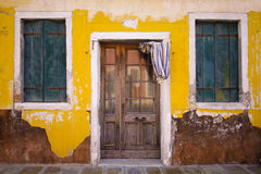Old house on Burano Stock Photo