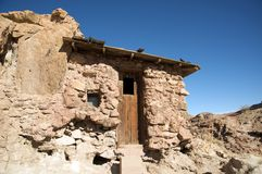 Old house in Calico Ghost Town stock image