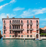 Old house by Canal Grande in Venice Stock Images