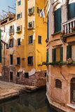 Old house on a canal in Venice Royalty Free Stock Image