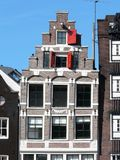 Old house on the canals in Amsterdam Stock Photography