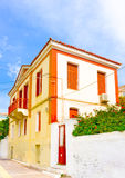 Old House. In the capital of Poros island in Greece Stock Photo
