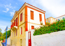 Old House. In the capital of Poros island in Greece Royalty Free Stock Photos