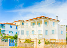 Old House. In the capital of Poros island in Greece Stock Image